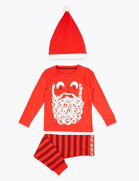 Cotton Santa Clause Pyjama Set (1-7 Years)