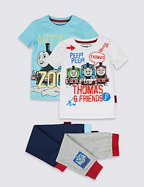 Thomas & Friends™ 2 Pack Pure Cotton Pyjamas (1-6 Years)
