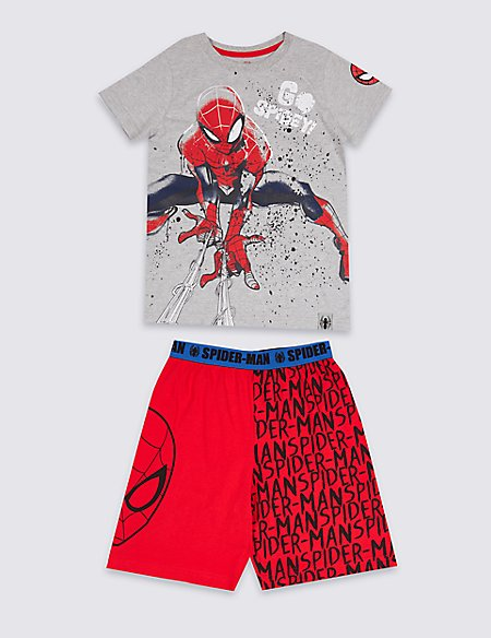 Spider-Man™ Cotton Pyjamas (2-8 Years)