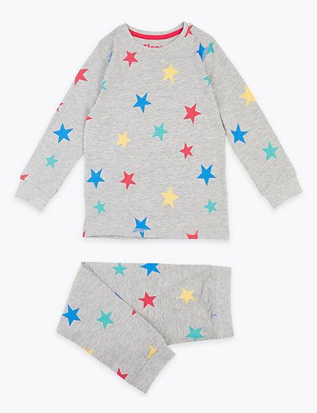 Cotton Rich Star Patterned Pyjamas (1-7 Years)