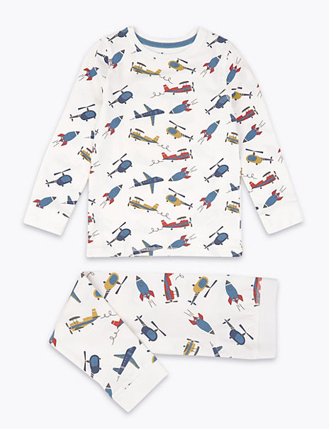 Aircraft Print Pyjama Set (1-7 Years)
