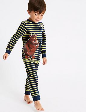 The Gruffalo™ Pyjamas with Stretch (1-8 Years), NAVY MIX, catlanding