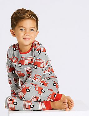 Fire Engine Pyjamas (1-7 Years), RED, catlanding