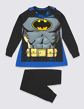 Batman™ Pyjamas with Cape (2-10 Years), BLACK MIX, catlanding