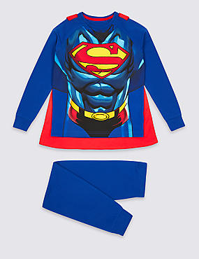 Superman™ Pyjamas with Cape (2-10 Years), BLUE MIX, catlanding