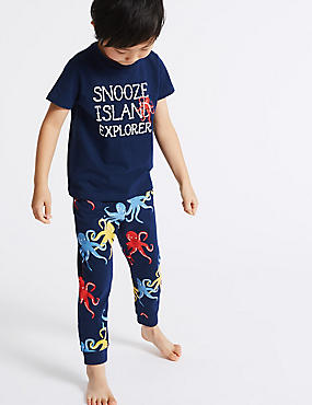 Pure Cotton Printed Pyjamas (1-7 Years)