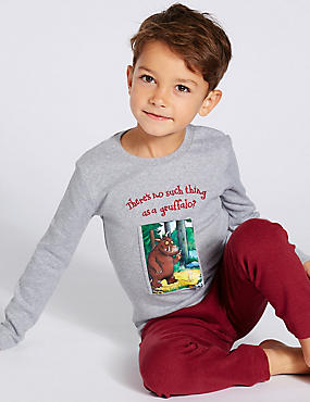 The Gruffalo™ Pyjamas (1-8 Years), GREY MIX, catlanding