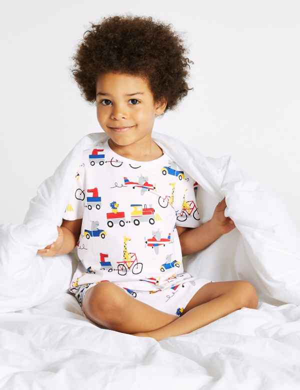 182630e7139 Cotton Short Pyjamas with Stretch (1-7 Years)