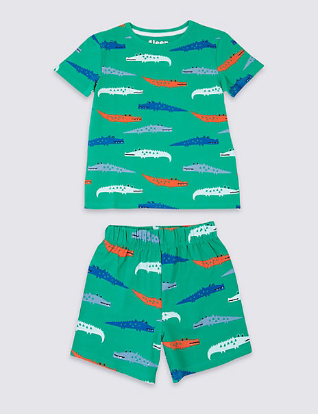 Cotton Short Pyjamas with Stretch (1-7 Years)