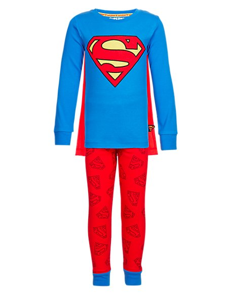 Pure Cotton Superman™ Logo Pyjamas with StayNEW™ (1-7 Years)
