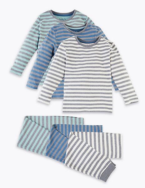 3 Pack Striped Pyjama Set (1-7 Years)