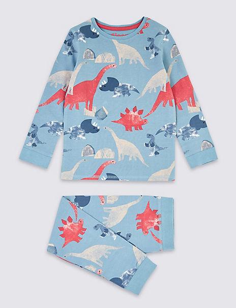 Dinosaur Skinny Fit Pyjama Set (1-7 Years)
