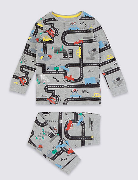 Car Print Pyjama Set (1-7 Years)