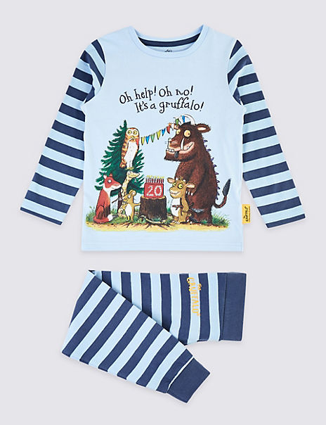 Gruffalo Print Striped Pyjama Set (1-8 Years)