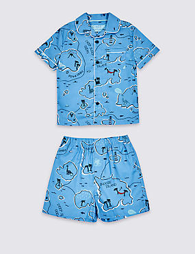 Pure Cotton Printed Short Pyjamas (1-7 Years)