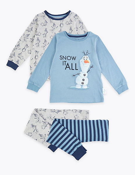 2 Pack Disney Frozen™ 2 Olaf Print Pyjama Sets (2-10 Years)