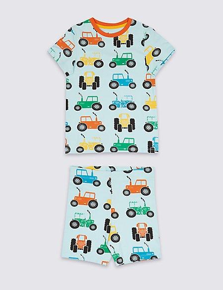 Cotton Printed Short Pyjamas (1-7 Years)