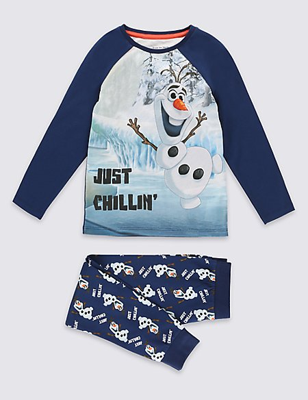 Cotton Rich Disney Frozen Olaf Pyjamas (1-6 Years)