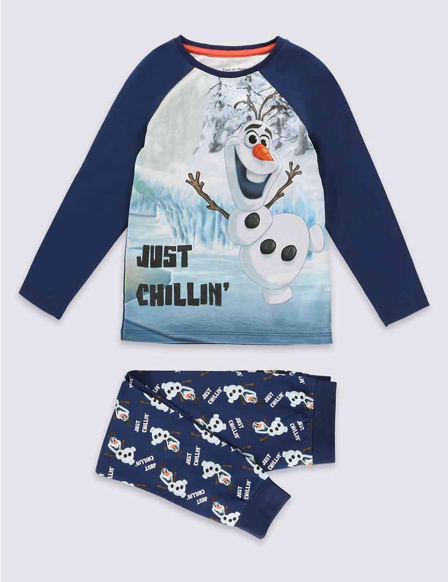 Cotton Rich Disney Frozen Olaf Pyjamas (1-6 Years)  f97f2e236