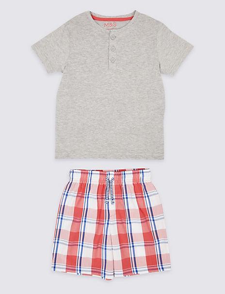 Checked Short Pyjamas (1-7 Years)