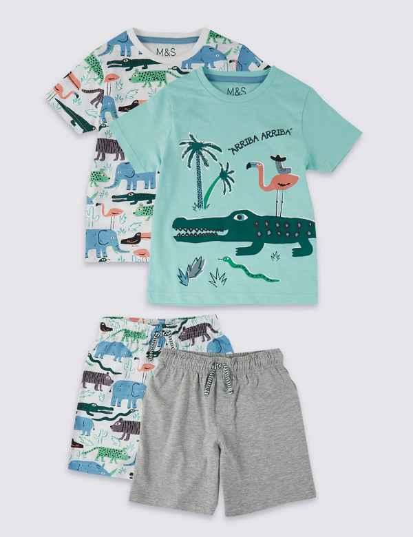 071fb3af90da 2 Pack Animal Short Pyjamas (18 Months - 7 Years). New