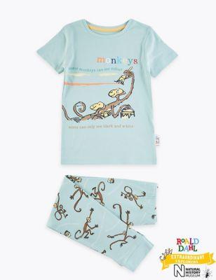 Roald Dahl™ & NHM™ Monkey Pyjamas (1-7 Yrs)