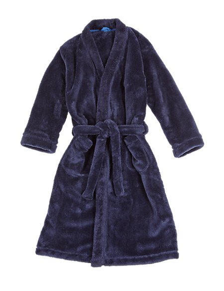 Waist Tie Fluffy Dressing Gown with StayNEW™ (6-16 Years)