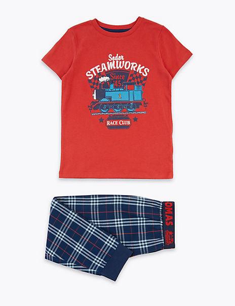 Cotton Thomas & Friends™ Checked Pyjama Set (1-6 Years)