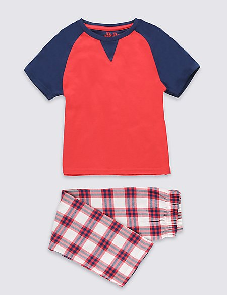 Gingham Checked Short Pyjamas (1-8 Years)