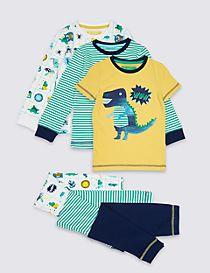 3 Pack Pyjamas with Stretch (1-7 Years)