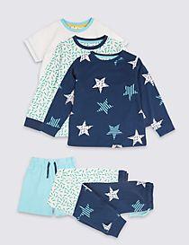 3 Pack Pure Cotton Pyjamas (1-7 Years)