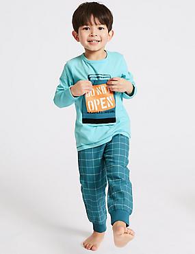 Printed Pure Cotton Pyjamas (1-7 Years)