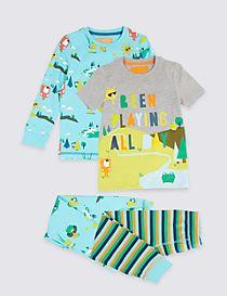 2 Pack Printed Pyjamas (1-7 Years)