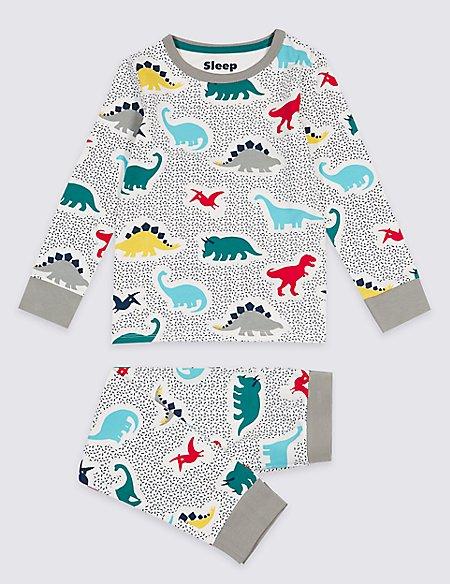 Printed Pyjamas with Stretch (1-7 Years)