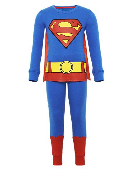 Pure Cotton Superman™ Pyjamas with Cape