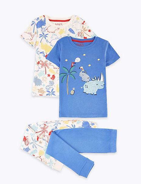 2 Pack Cotton Rhino Pyjama Sets (1-7 Years)