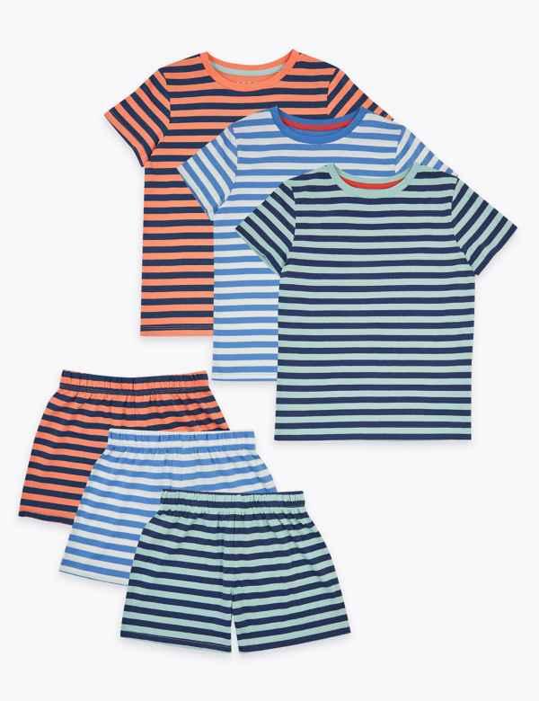 Boys Pyjamas Top 13-14-stripey bkue pyjama tops