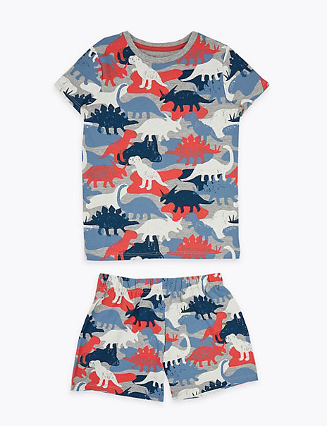 Cotton Rich Dinosaur Short Pyjama Set (1-7 Yrs)