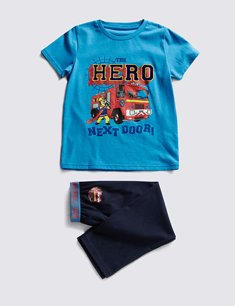Fireman Pyjamas Night time Hero Blue Sam Pyjamas