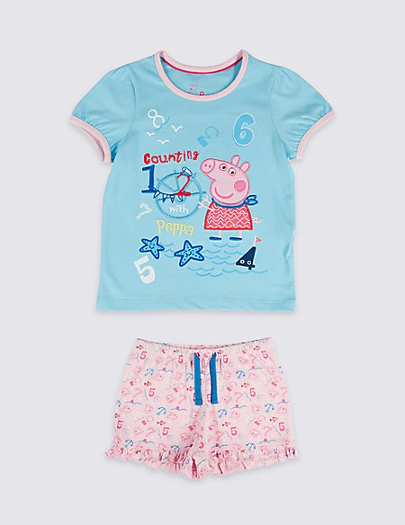 Peppa Pig™ Pure Cotton Short Pyjamas (1-7 Years)