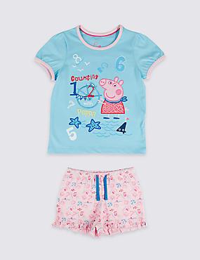 Peppa Pig™ Pure Cotton Short Pyjamas (1-7 Years)