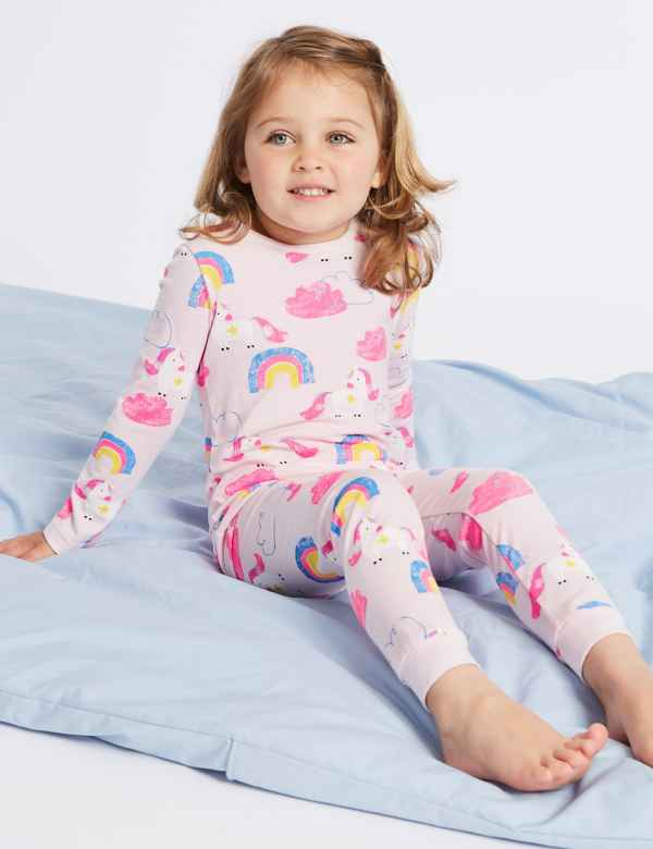 c6e795f8abfb0 Dreamskin® Cotton with Stretch Unicorn Pyjamas (1-7 Years)
