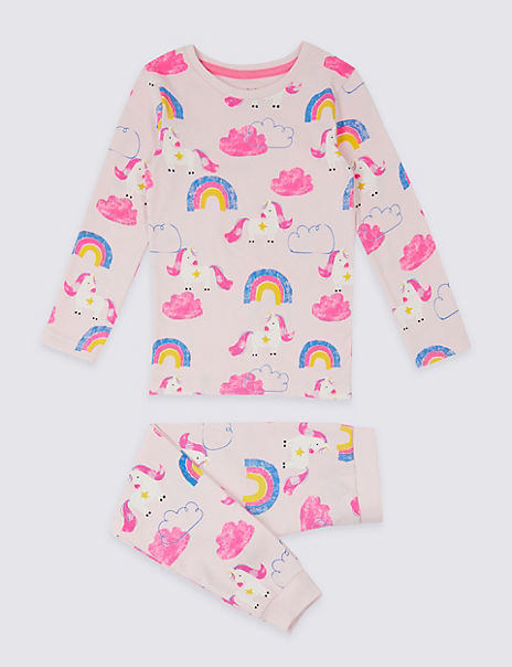 Dreamskin® Cotton with Stretch Unicorn Pyjamas (1-7 Years)