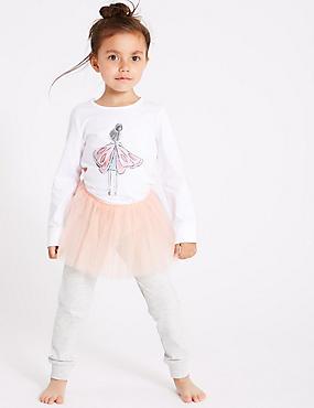 Tutu Pyjamas (1-7 Years), WINTER WHITE, catlanding
