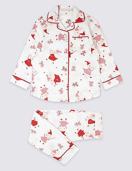 Pure Cotton All Over Print Pyjamas (1-7 Years)