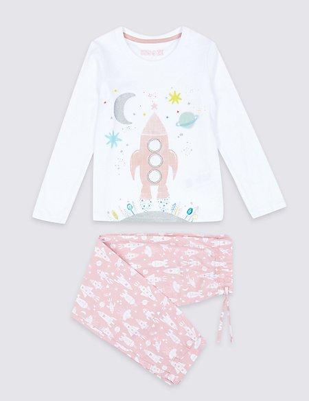 Pure Cotton Animal Rocket Pyjamas (1-7 Years)