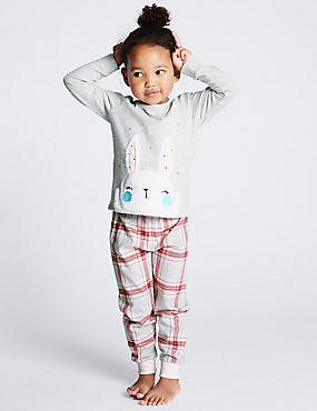 Cotton Rich Pyjamas (1-7 Years), LIGHT PINK, catlanding