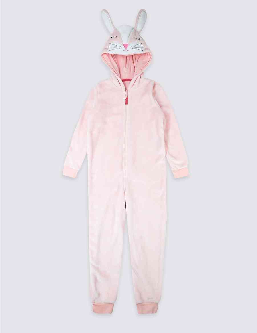 b655f009b0b0 Hooded Bunny Onesie (1-8 Years)