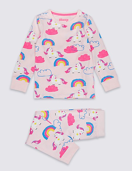 Unicorn Pyjamas with Stretch (1-7 Years)