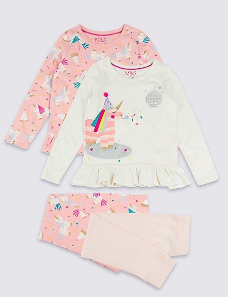 2 Pack Pure Cotton Pyjamas (1-7 Years)